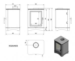 Габаритные размеры Kratki Koza K5 S